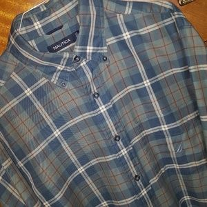 Nautica Clan MacNeil tartan flannel shirt, Medium